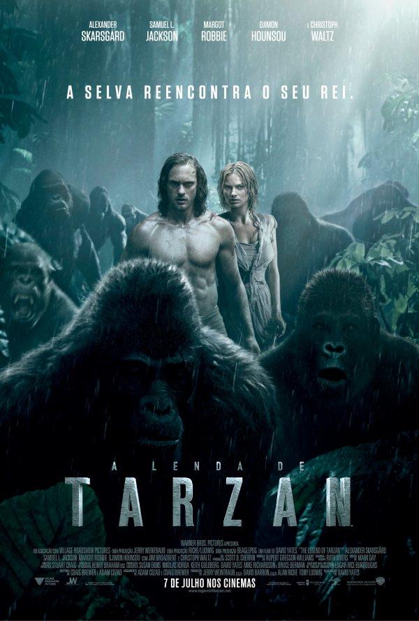 "Novo poster português para ""A Lenda de Tarzan"" (The Legend of Tarzan)"
