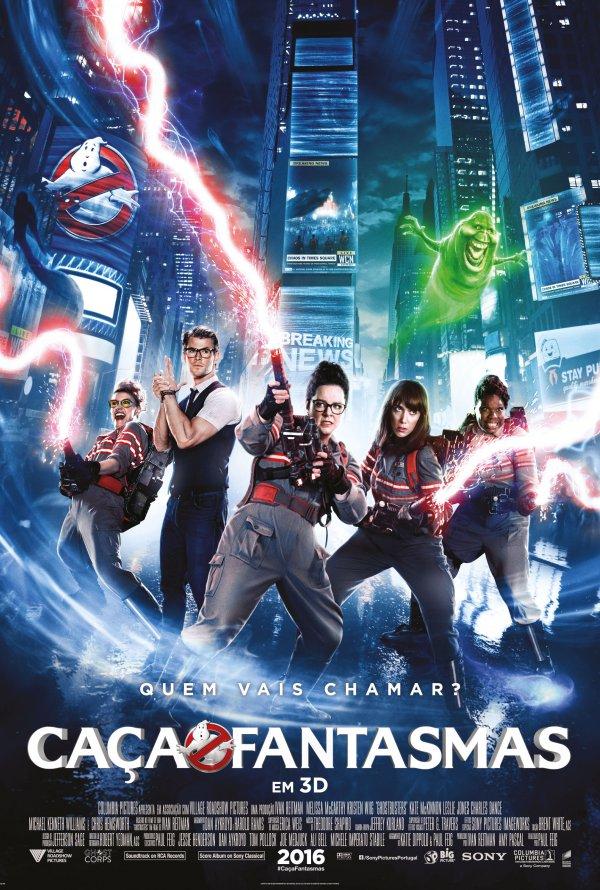 """Novo poster português para """"As Caça-Fantasmas"""" (Ghostbusters)"""