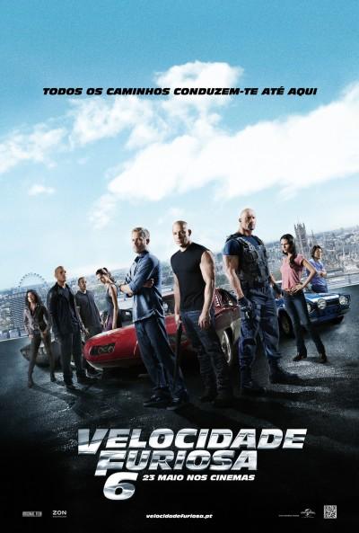 """Novo poster português para """"Velocidade Furiosa 6"""" (The Fast and the Furious 6)"""