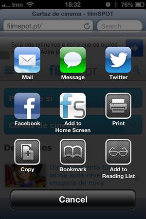 filmSPOT Home Screen iOS
