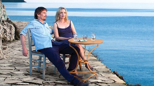 "Poster para ""Before Midnight"" com Ethan Hawke e Julie Delpy"