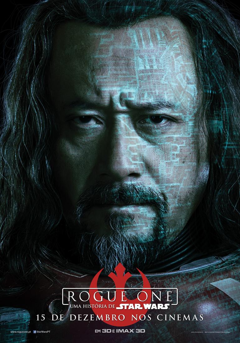 Rogue One: Uma História de Star Wars - posters das personagens 1/8: Baze Malbus. Soldado. Amigo.