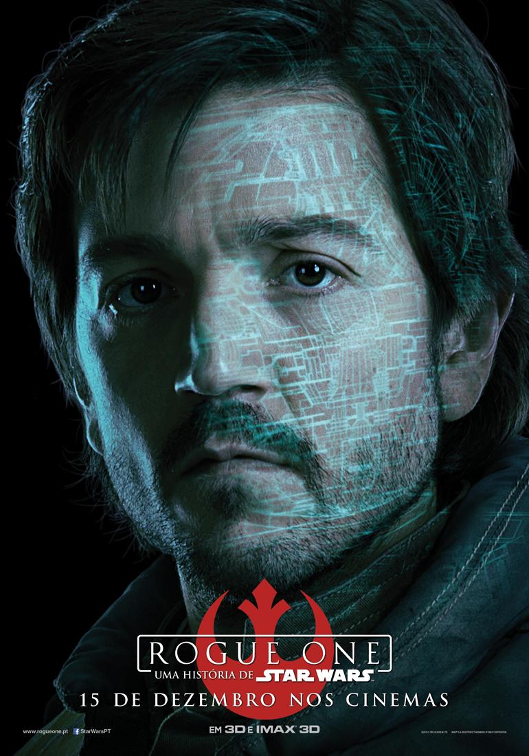 Rogue One: Uma História de Star Wars - posters das personagens 3/8: Cassian Andor. Oficial dos serviços secretos da Aliança Rebelde.