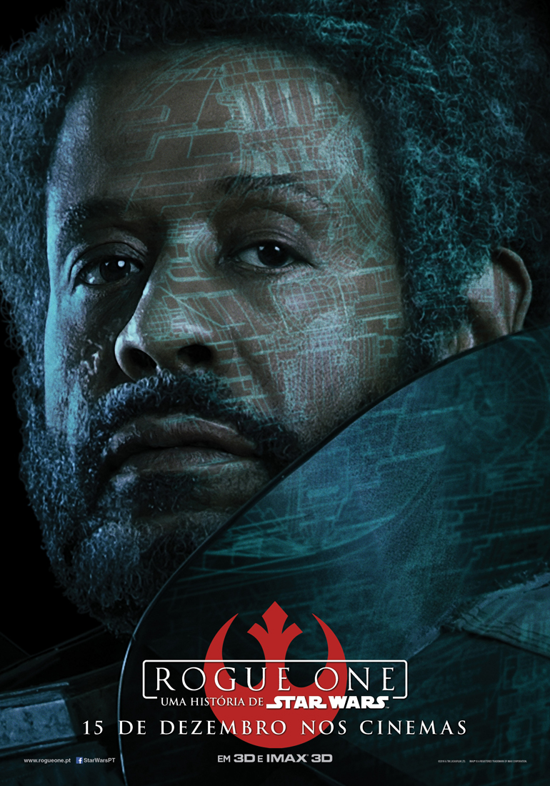 Rogue One: Uma História de Star Wars - posters das personagens 7/8: Saw Gerrera. Determinado a vencer a luta contra o Império.
