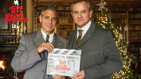 "George Clooney visita ""Downton Abbey"""