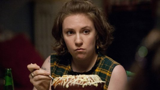 "Lena Dunham de ""Girls"" no hospital"