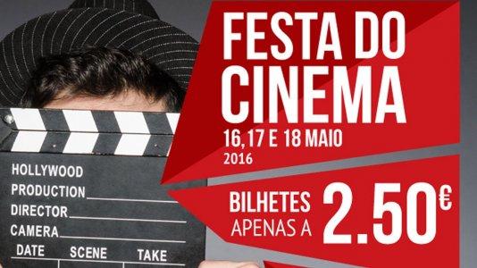 Festa do Cinema 2016: cinema com bilhetes a 2,50€ entre 16 e 18 de maio