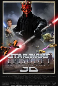 Poster do filme Star Wars Episódio I: A Ameaça Fantasma - 3D / Star Wars: Episode I - The Phantom Menace (1999)