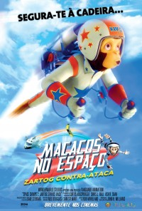 Poster do filme Macacos no Espaço - Zartog Contra-Ataca / Space Chimps 2: Zartog Strikes Back (2010)
