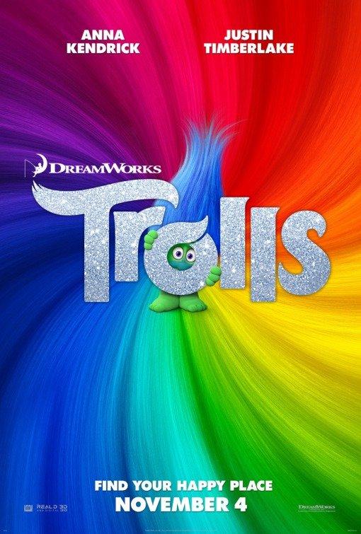 "Novo poster para ""Trolls"""