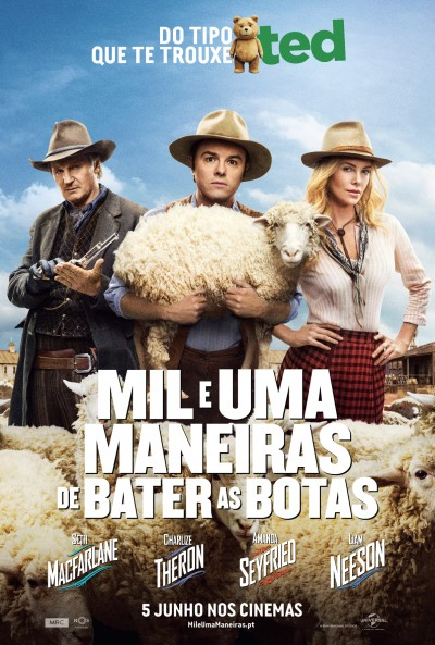 "Novo poster para ""Mil e Uma Maneiras de Bater as Botas"" (A Million Ways to Die in the West)"