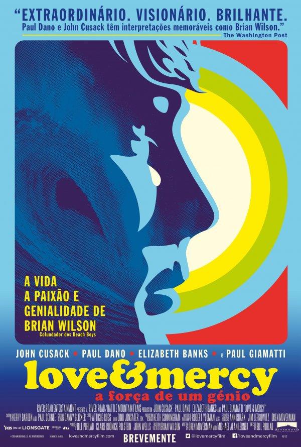 """Novo poster português para """"Love & Mercy - A Força de Um Génio"""" (Love & Mercy)"""