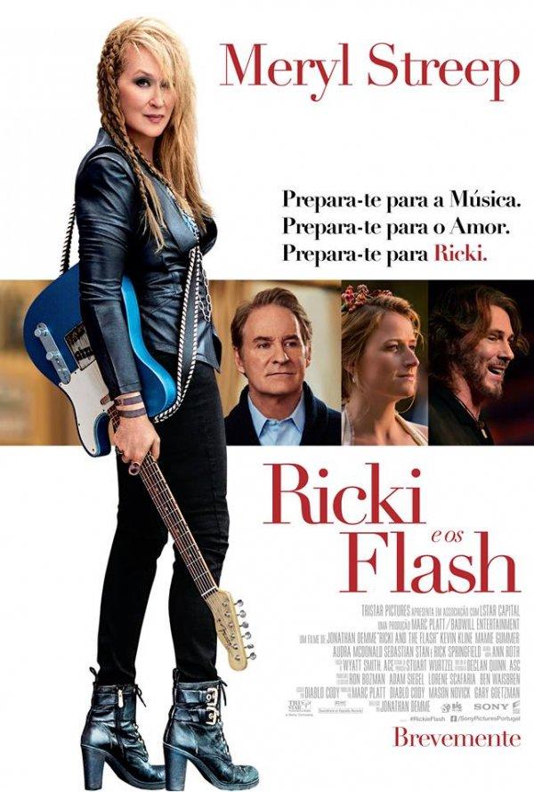 """Novo poster português para """"Ricki e os Flash"""" (Ricki and the Flash)"""