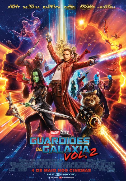Poster Guardiões da Galáxia Vol. 2 / Guardians of the Galaxy Vol. 2 (2017)