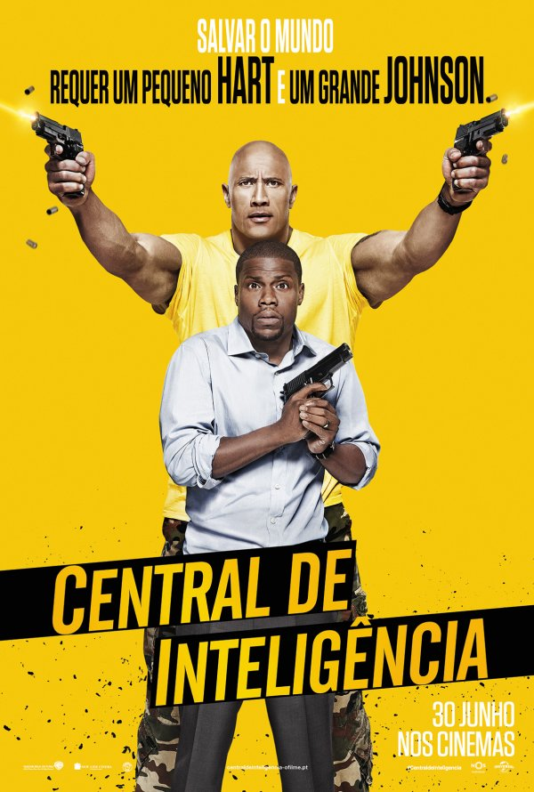 "Novo poster português para ""Central de Inteligência"" (Central Intelligence)"