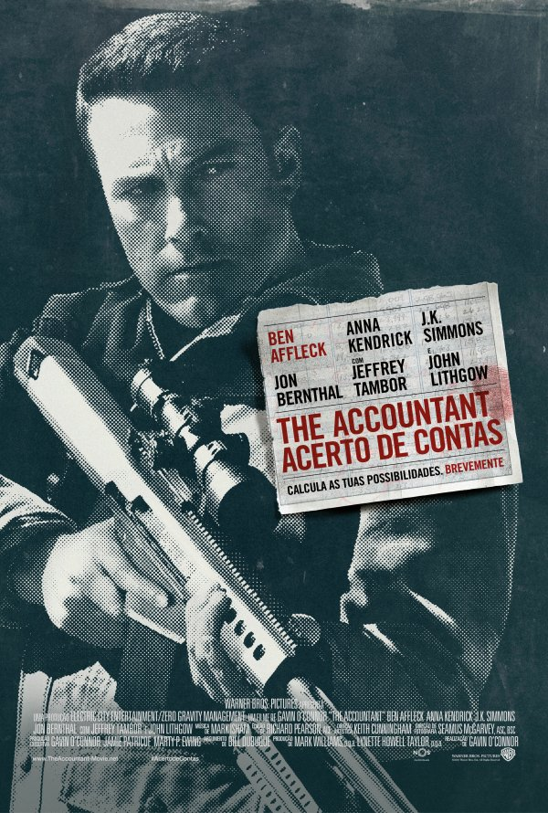 "Novo poster português para ""The Accountant - Acerto de Contas"" (The Accountant)"