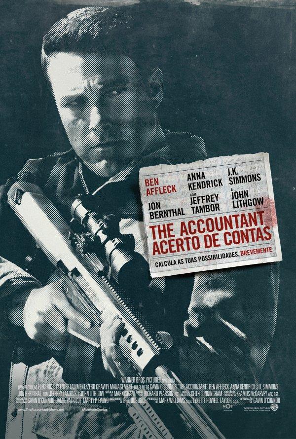 """Novo poster português para """"The Accountant - Acerto de Contas"""" (The Accountant)"""