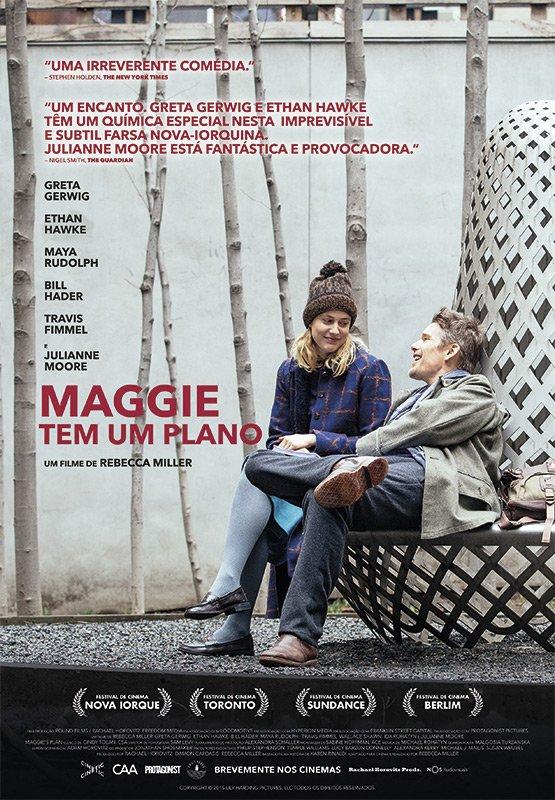 """Novo poster português para """"Maggie Tem Um Plano"""" (Maggie's Plan)"""
