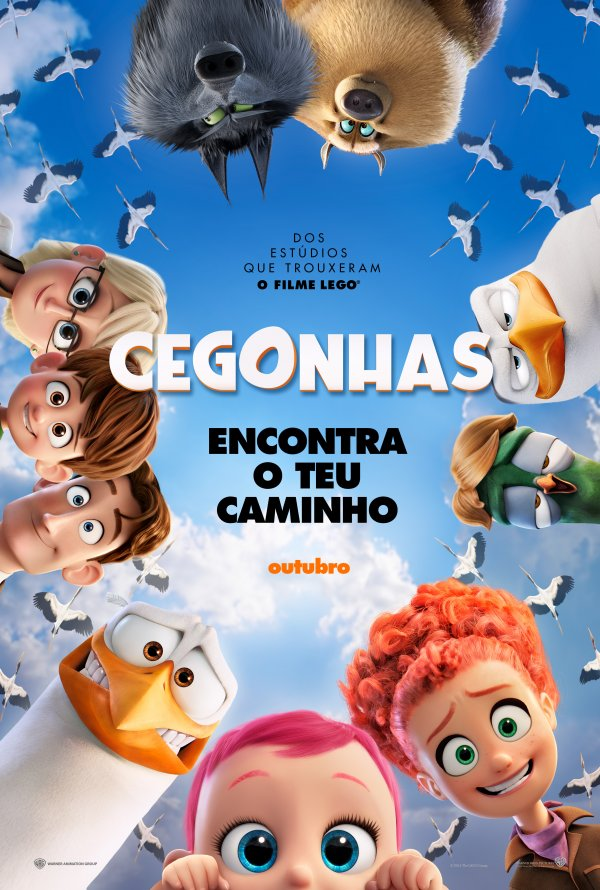 """Novo poster português para """"Cegonhas"""" (Storks)"""