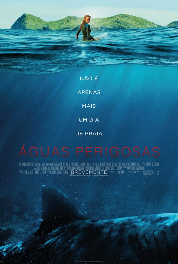"Novo poster português para ""Águas Perigosas"" (The Shallows)"