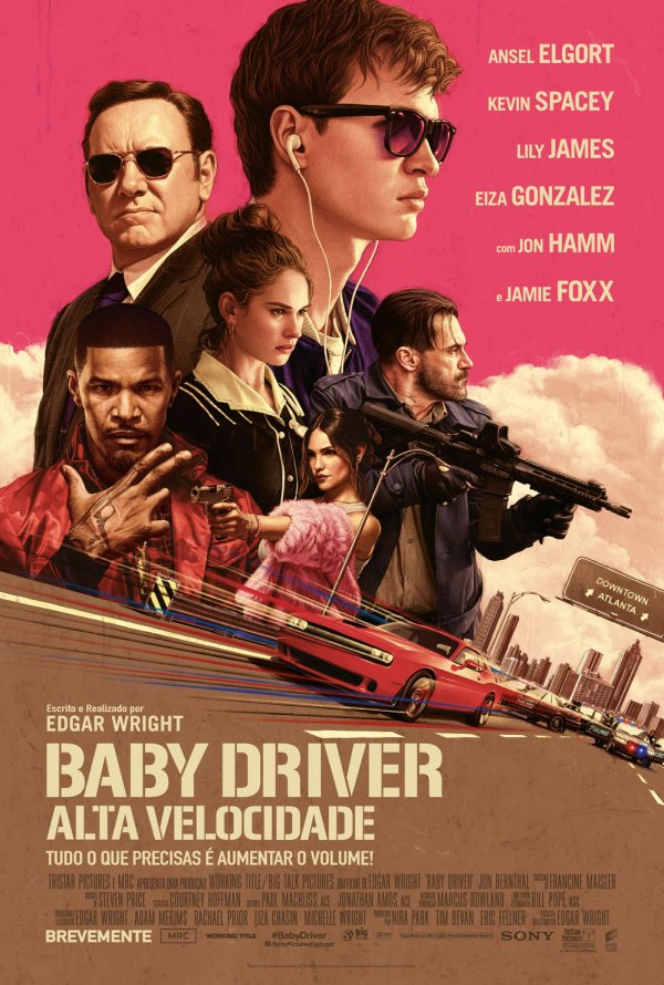 Poster Baby Driver: Alta Velocidade / Baby Driver (2017)
