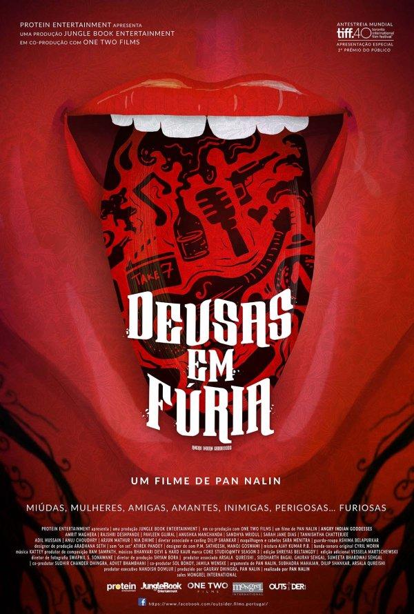 """Novo poster português para """"Deusas em Fúria"""" (Angry Indian Goddesses)"""