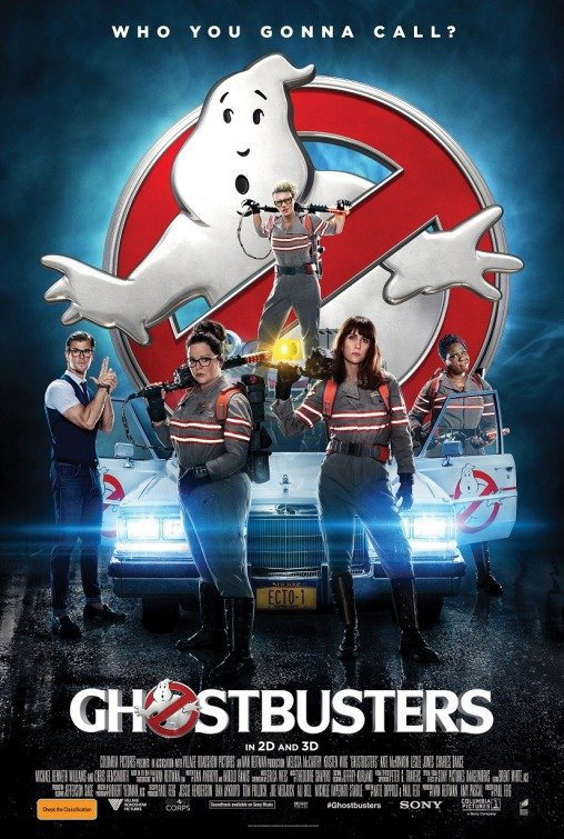 "Novo poster para ""As Caça-Fantasmas"" (Ghostbusters)"