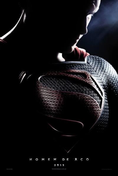 """Novo poster português para """"Homem de Aço"""" (Man of Steel)"""