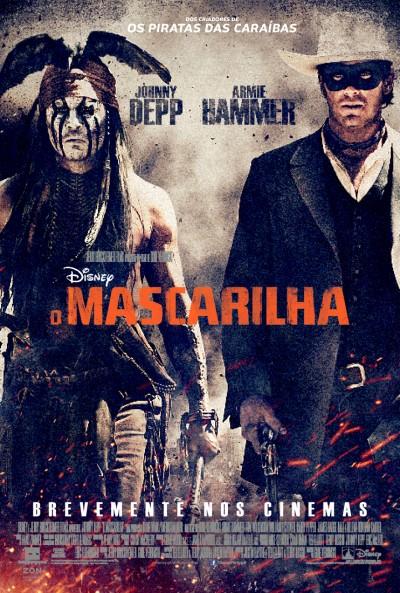 """Novo poster português para """"O Mascarilha"""" (The Lone Ranger)"""
