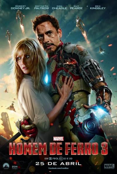 """Novo poster português para """"Homem de Ferro 3"""" (Iron Man 3)"""