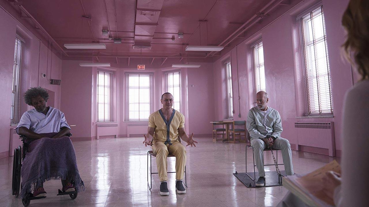 "Bruce Willis versus James McAvoy e Samuel L. Jackson em ""Glass"""