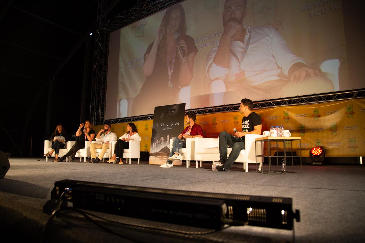 """Comic Con Portugal 2018 (ambiente e painéis 3º dia - 8 de setembro) 7/15: Apresentação """"Solum"""""""