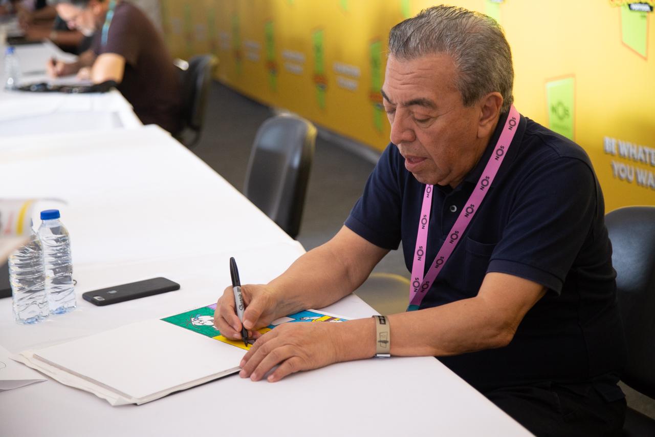 Comic Con Portugal 2018 (ambiente e painéis 3º dia - 8 de setembro) 13/15: Maurício de Sousa sessão de autógrafos