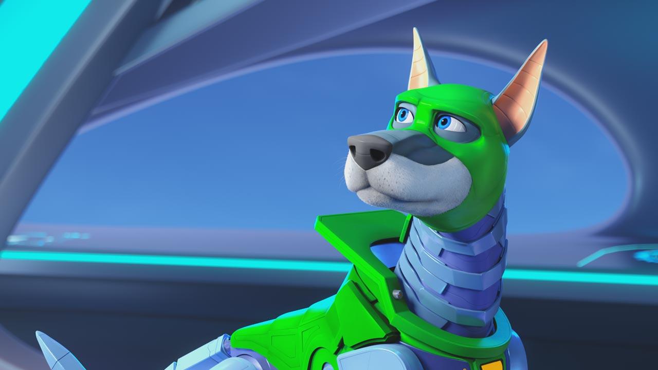 Scooby! (personagens e elenco de vozes portuguesas) 13/16: Dynomutt (voz portuguesa: Luís Barros)