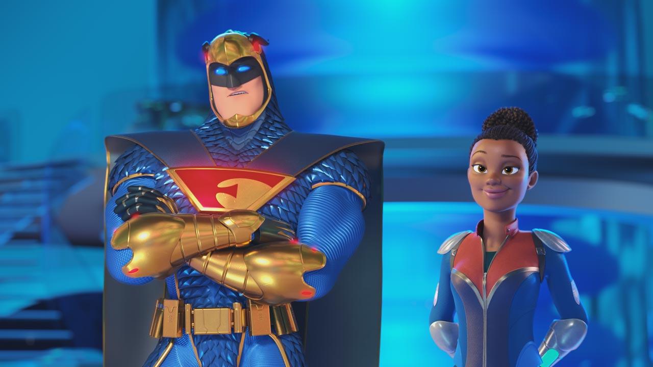 Scooby! (personagens e elenco de vozes portuguesas) 16/16: Falcão Azul e Dee Dee Sykes (vozes portuguesas: Romeu Vala e Mafalda Luís de Castro)