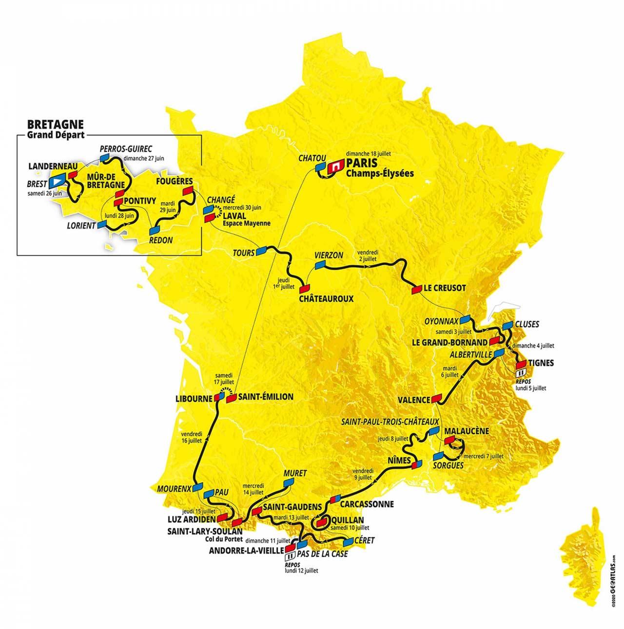 Percurso Tour de France 2021