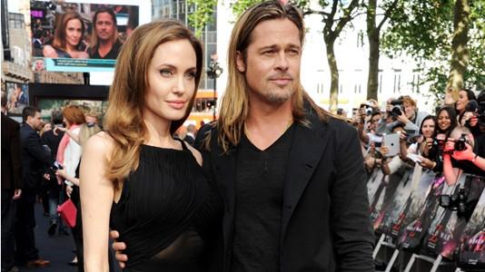 """""""World War Z"""": Angelina Jolie e Brad Pitt na ante-estreia em Londres"""