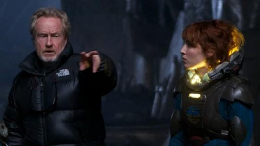 "Ridley Scott dirige Naomi Rapace em ""Prometheus"""
