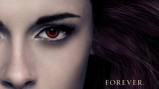 "Chuva de posters com as personagens de ""A Saga Twilight: Amanhecer - Parte 2"""