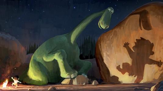 Pixar apresenta próximo filme: dinossauro fofinho encontra menino das cavernas