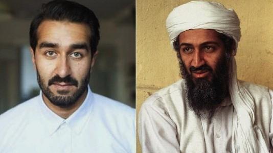 O rosto de Bin Laden no grande ecrã