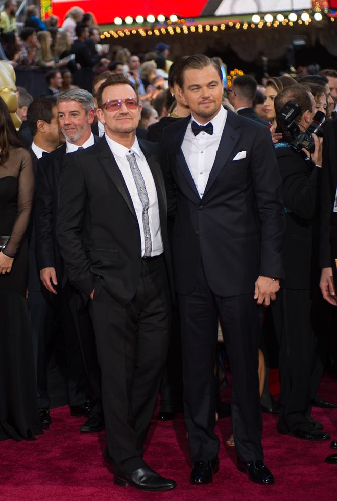 Bono e Leonardo DiCaprio