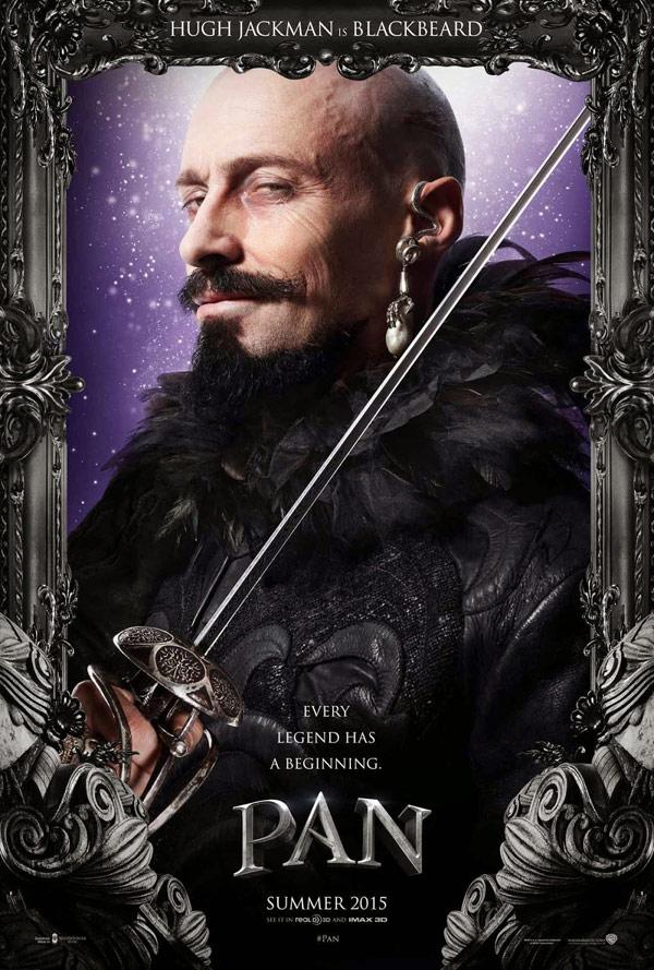 Pan - Posters 2/4: Hugh Jackman é Blackbeard
