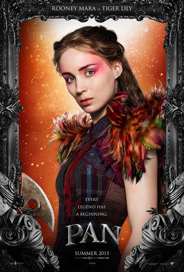 Pan - Posters 4/4: Rooney Mara é Tiger Lilly