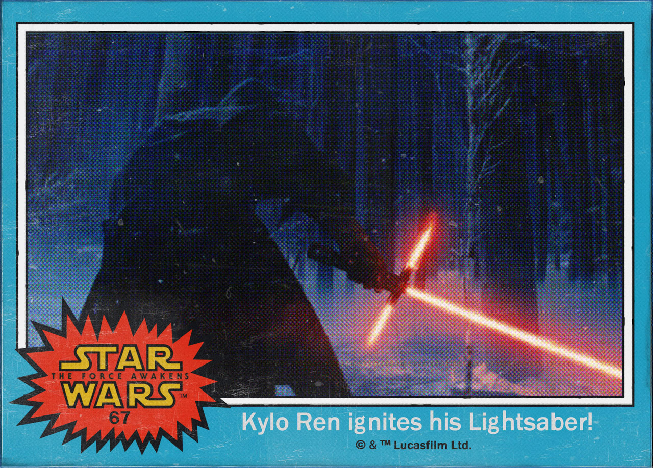 "Cromos ""Star Wars: The Force Awakens"" 4/8"