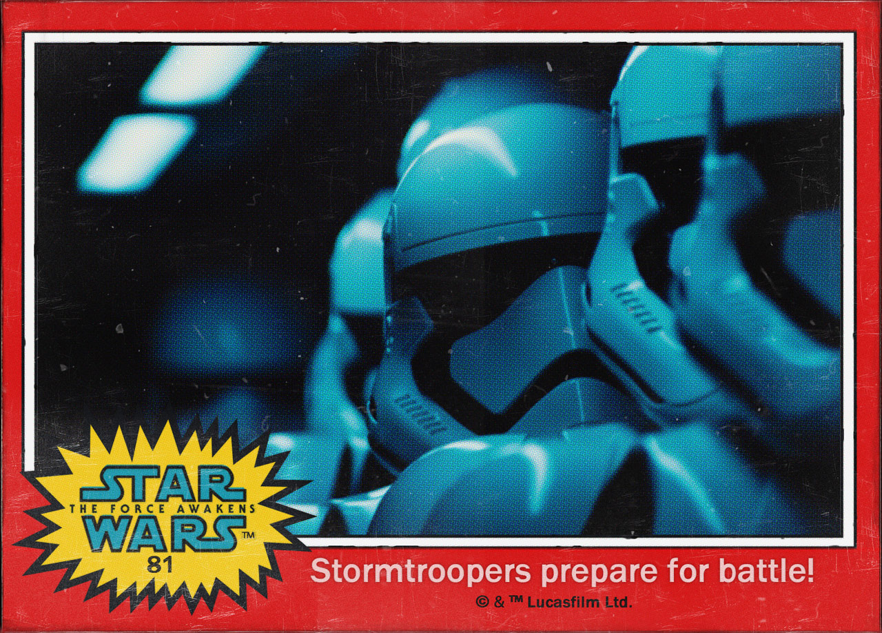 "Cromos ""Star Wars: The Force Awakens"" 6/8"
