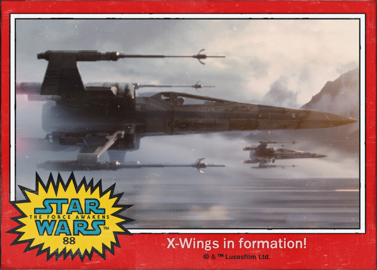 "Cromos ""Star Wars: The Force Awakens"" 7/8"