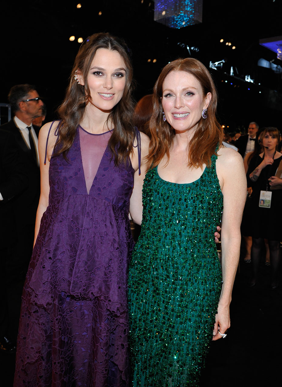 SAG Awards 2015 8/30: Keira Knightley e Julianne Moore (Foto John Sciulli/WireImage)
