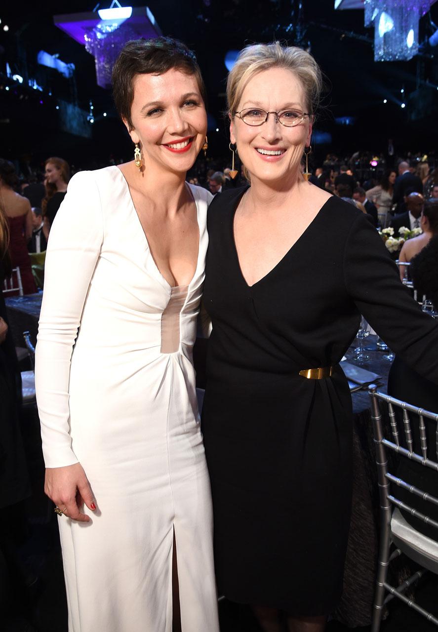 SAG Awards 2015 19/30: Maggie Gyllenhaal e Meryl Streep (Foto Dimitrios Kambouris/WireImage)