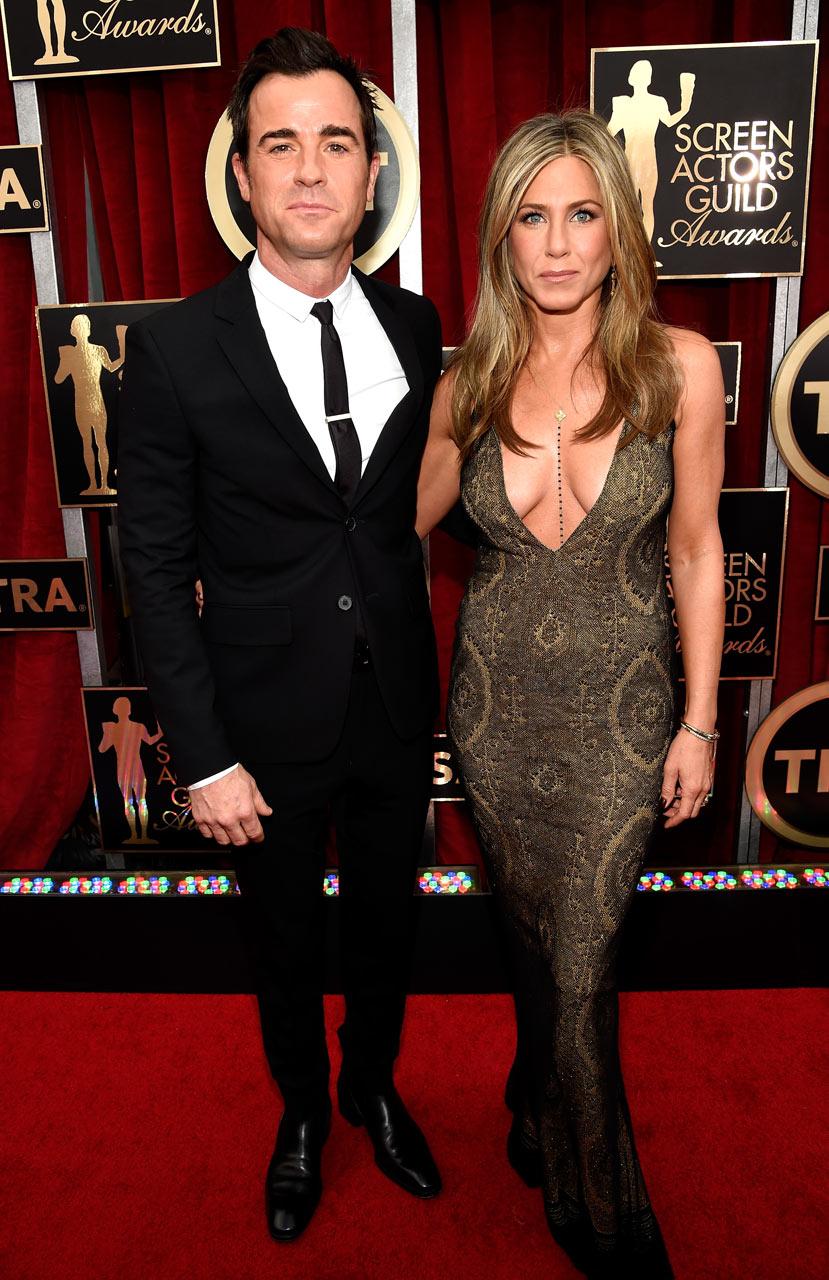 SAG Awards 2015 4/30: Justin Theroux e Jennifer Aniston (Foto Kevin Mazur/WireImage)